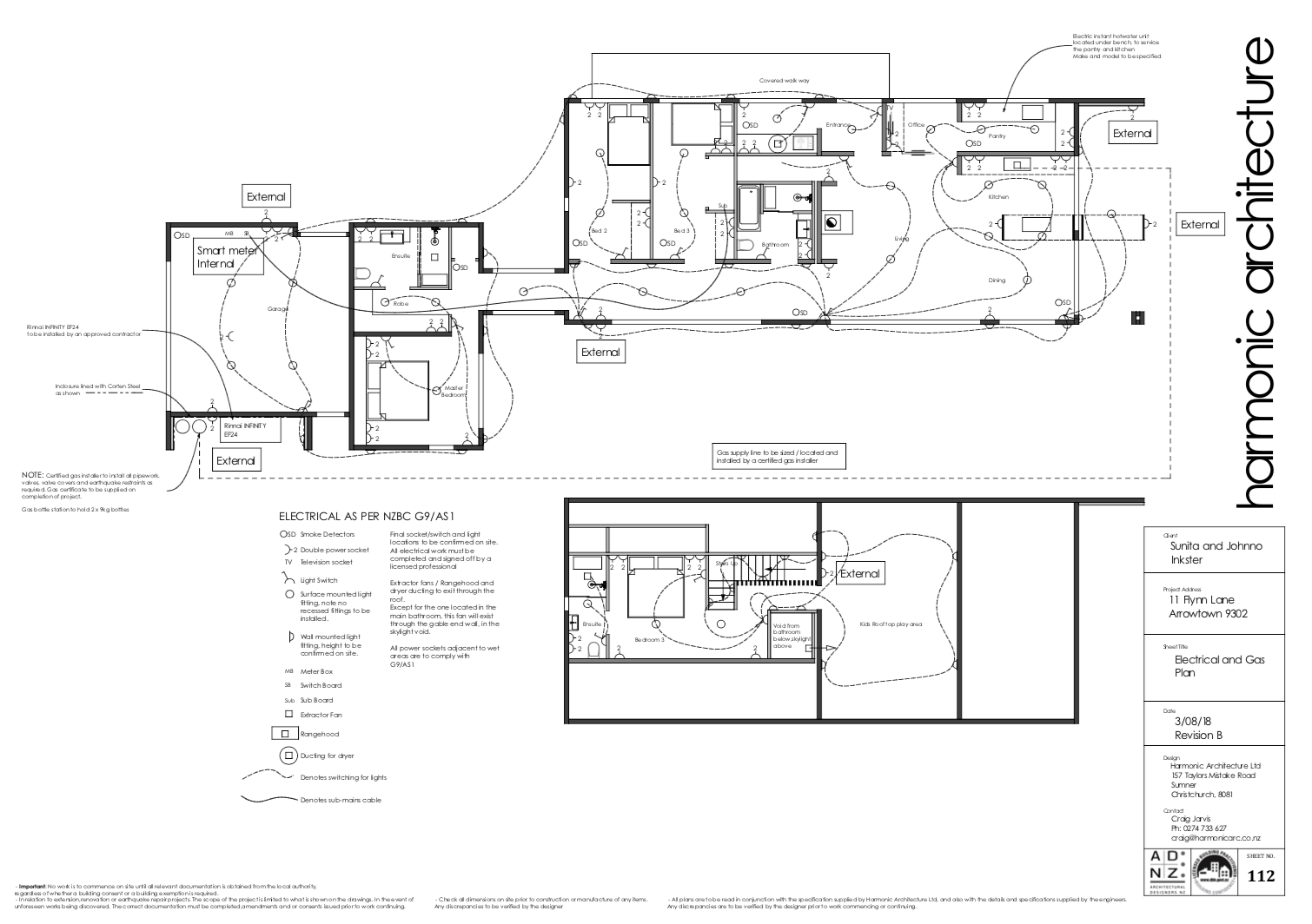 Electrical and Gas Plan Energy Efficient Home
